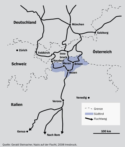 Karte der Rattenlinien